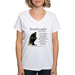 Thinker Women's V-Neck T-Shirt