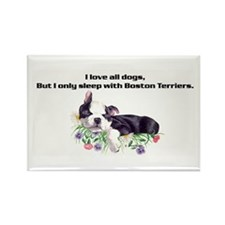 Sleep with Boston Terriers Rectangle Magnet