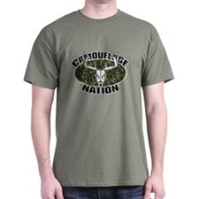 Camo Nation Deer Hunting T-Shirt