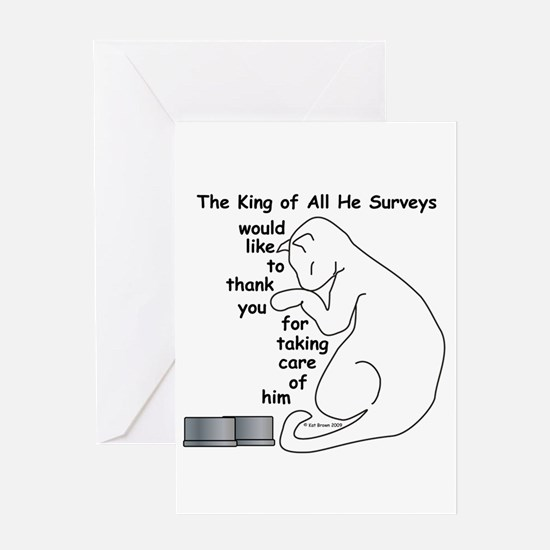 His Majesty... moved Greeting Card