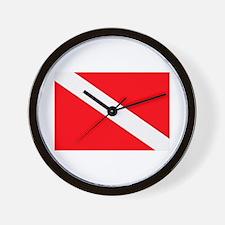 Unique Dive flag Wall Clock