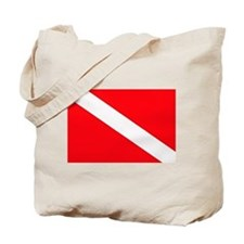 Cute Scuba flag Tote Bag