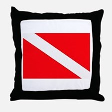 Cute Scuba diving Throw Pillow