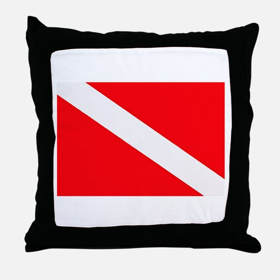 Unique Scuba flag Throw Pillow