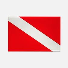Cute Dive flag Rectangle Magnet