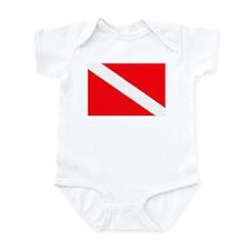 Cute Scuba flag Infant Bodysuit