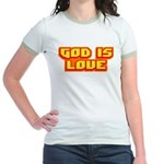 God Is Love T-shirts & Gifts Jr. Ringer T-Shirt