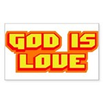 God Is Love T-shirts & Gifts Rectangle Sticker