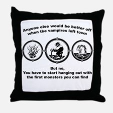 Twilight and alice Throw Pillow