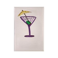 Martini Holiday Rectangle Magnet