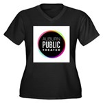 Auburn Public Theater Women's Plus Size V-Neck Dar