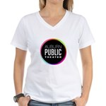Auburn Public Theater Women's V-Neck T-Shirt