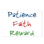 Patience Faith Reward Postcards (Package of 8)