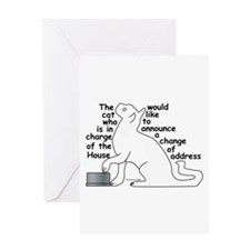 One cat moving... Greeting Card