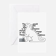 One cat moving...party Greeting Card