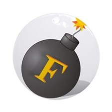 F-Bomb Ornament (Round)