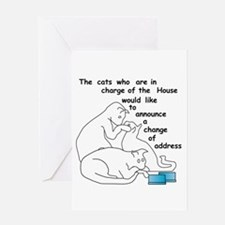 Cats moving...party Greeting Card