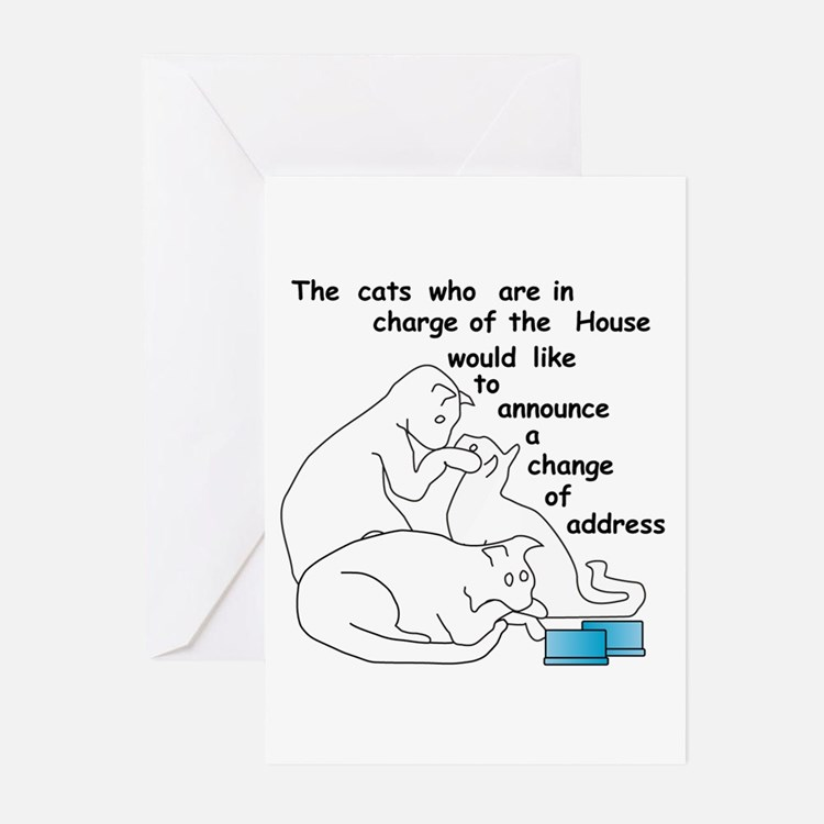 Cats moving...party Greeting Cards (Pk of 20)