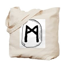 Norse Rune Mannaz Tote Bag