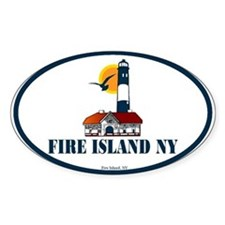 Fire Island Oval Decal