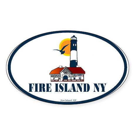 Fire Island Oval Sticker