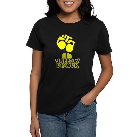 Yellow Power Fist Women's Dark T-Shirt