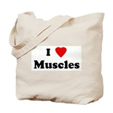 I Love Muscles Tote Bag