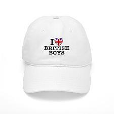 I Love British Boys Baseball Cap