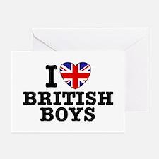 I Love British Boys Greeting Cards (Pk of 10)