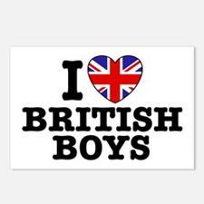 I Love British Boys Postcards (Package of 8)