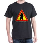 Dark T-Shirt Metalhead warning simple