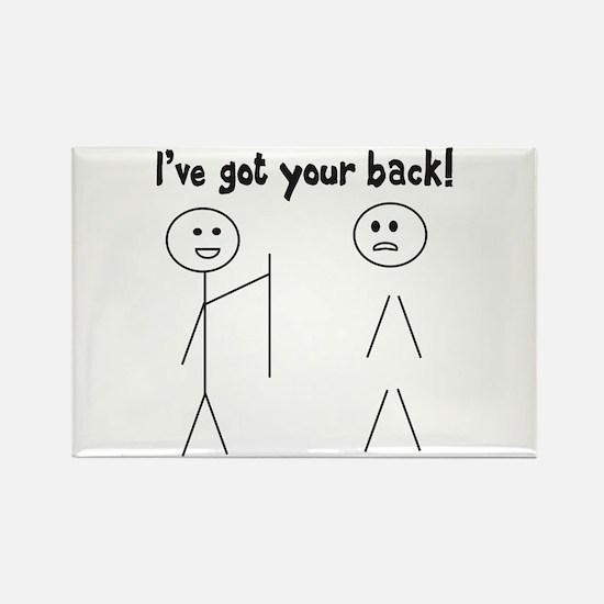 Got Your Back! Rectangle Magnet