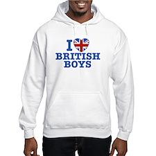 I Love British Boys Hoodie