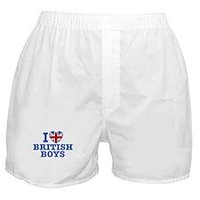 I Love British Boys Boxer Shorts