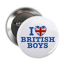"I Love British Boys 2.25"" Button"