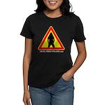 Women's Dark T-Shirt Metalhead warning simple
