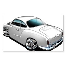 Karmann Ghia White Rectangle Sticker 50 pk)