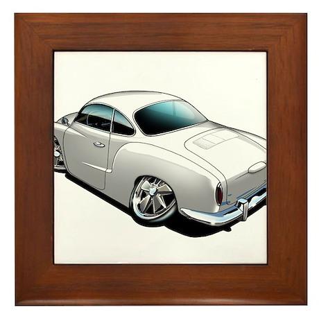 Karmann Ghia White Framed Tile