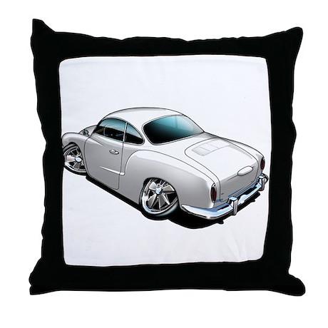 Karmann Ghia White Throw Pillow