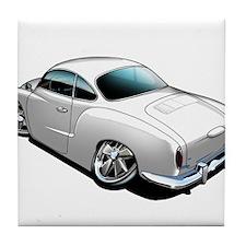 Karmann Ghia White Tile Coaster