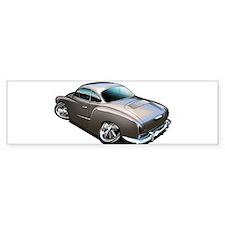 Karmann Ghia Brown Bumper Sticker (50 pk)