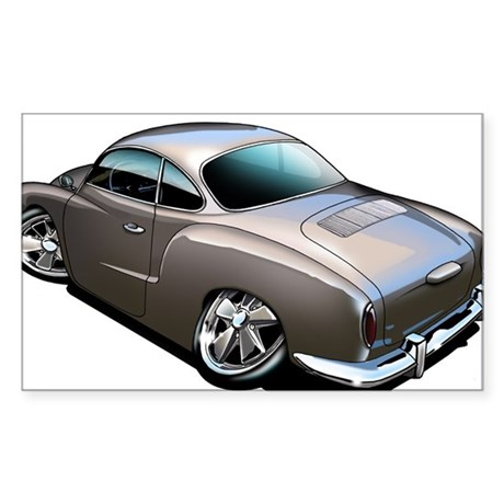 Karmann Ghia Brown Rectangle Sticker