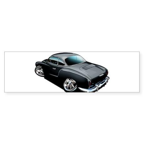 Karmann Ghia Black Bumper Sticker
