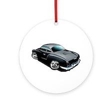 Karmann Ghia Black Ornament (Round)