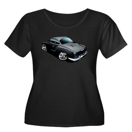 Karmann Ghia Black Women's Plus Size Scoop Neck Da