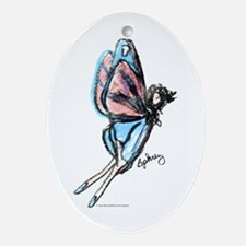 Butterfly Fairy Ornament (Oval)