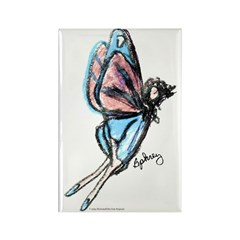 Butterfly Fairy Rectangle Magnet
