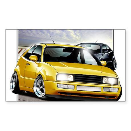 Corrado Yellow Rectangle Sticker