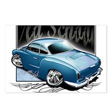 Bg Karmann Ghia Blue Postcards (Package of 8)