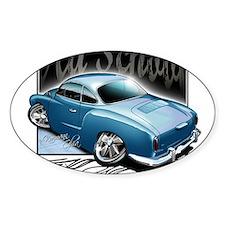 Bg Karmann Ghia Blue Oval Decal